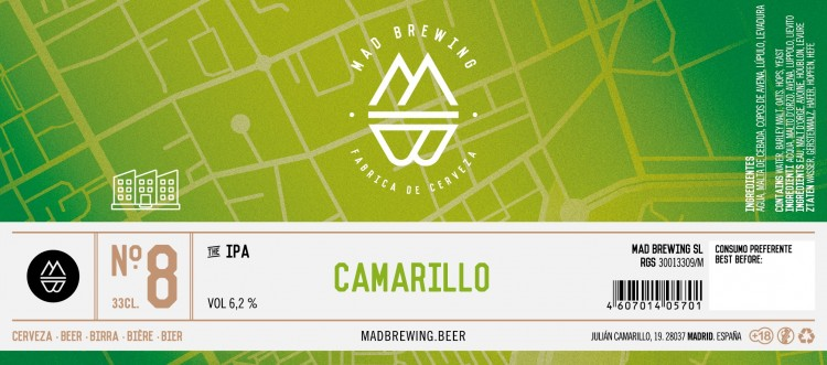 distribución cerveza artesana mad brewing camarillo